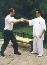 Training mit Großmeister Yao Cheng Rong im Bejing-Park